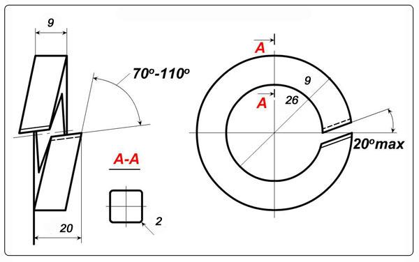 Схема шайбы одновитковой М24