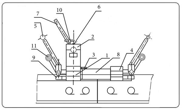 Схема путевого гидравлического разгонщика Р-25